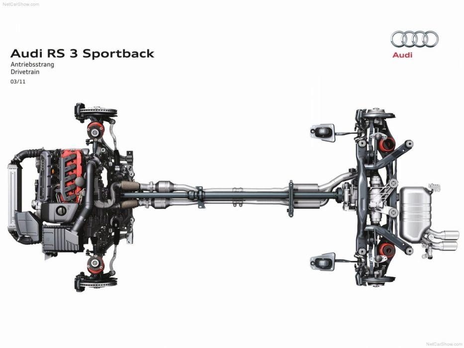 Audi RS3 Sportback 8PA 2012 Powertrain wallpaper