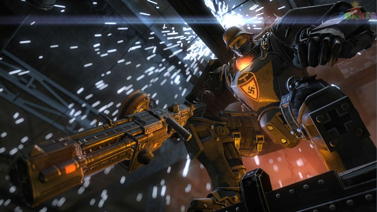 WOLFENSTEIN 1wob action adventure fighting fps shooter war dark sci-fi futuristic wallpaper