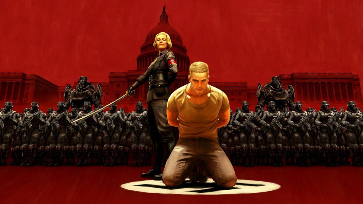 WOLFENSTEIN 1wob action adventure fighting fps shooter war dark sci-fi futuristic wallpaper