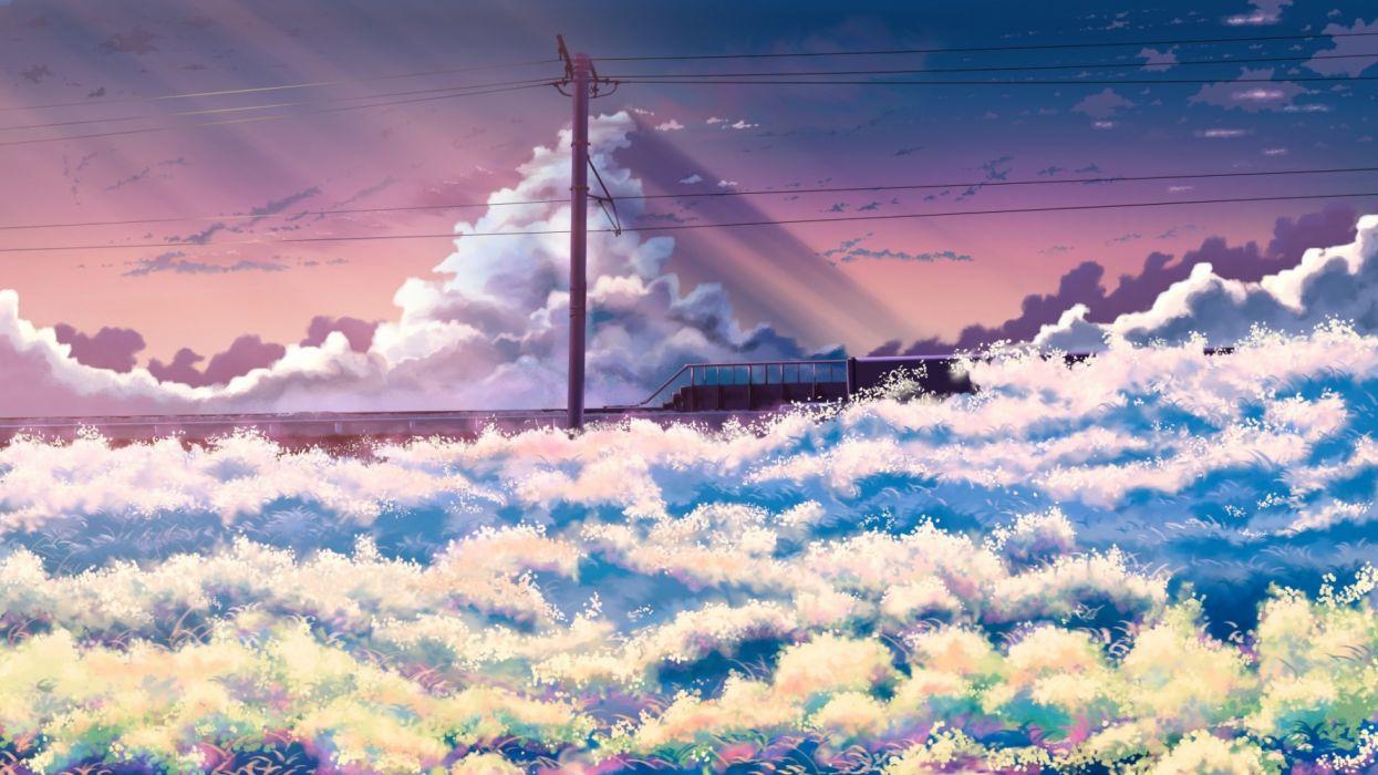 Konachan com - 236675 clouds grass hati 98 nobody original scenic sky sunset wallpaper