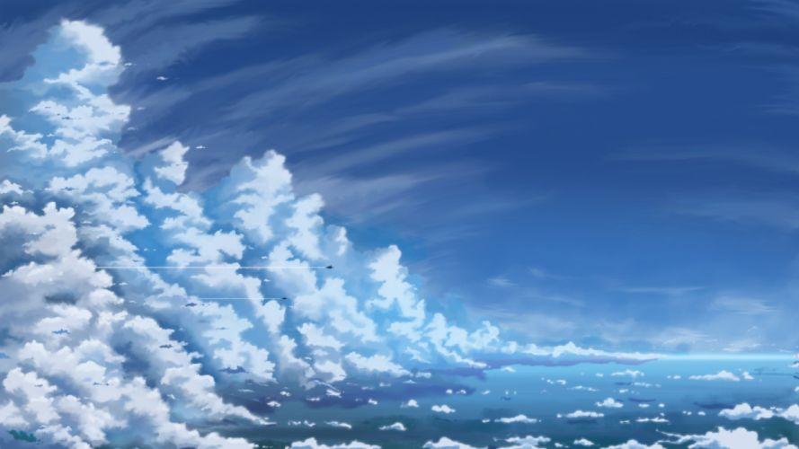 Konachan com - 236679 aircraft clouds hati 98 nobody original sky water wallpaper