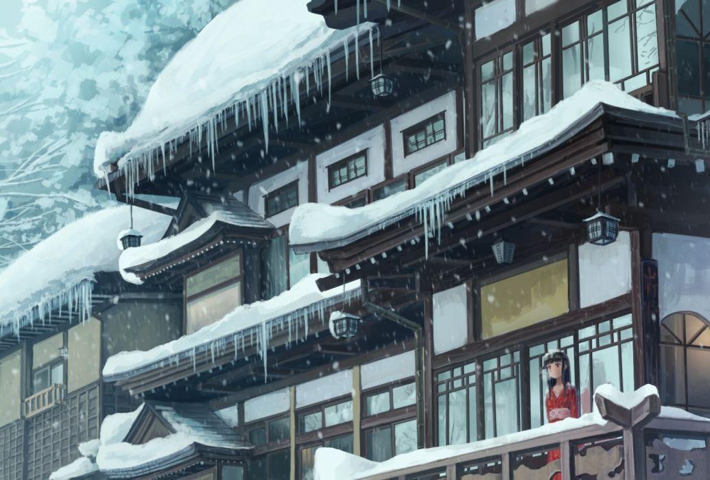 Konachan com - 236699 building original snow somei ysnr wallpaper