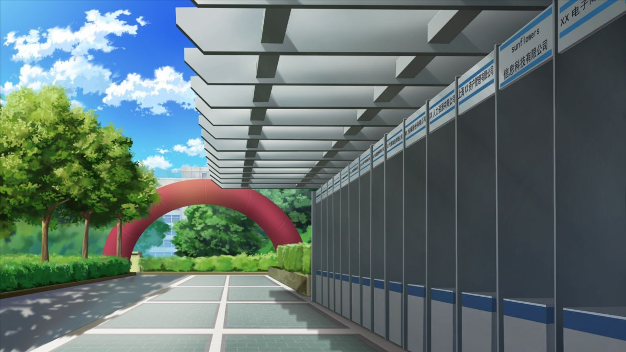 Konachan com - 236706 building clouds nobody original scenic sky tagme (artist) tree wallpaper
