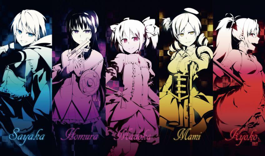 Konachan com - 236884 akemi homura kaname madoka mahou shoujo madoka magica miki sayaka polychromatic sakura kyouko sizuka (takuma0) tomoe mami wallpaper