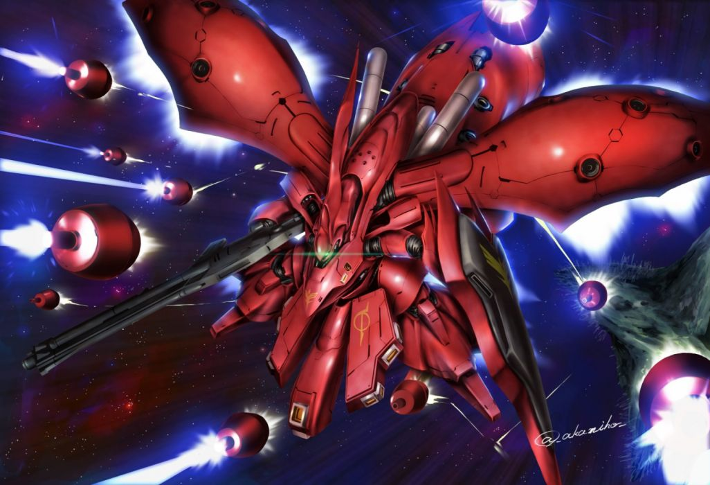 Konachan com - 235939 akamiho mecha mobile suit gundam signed wallpaper