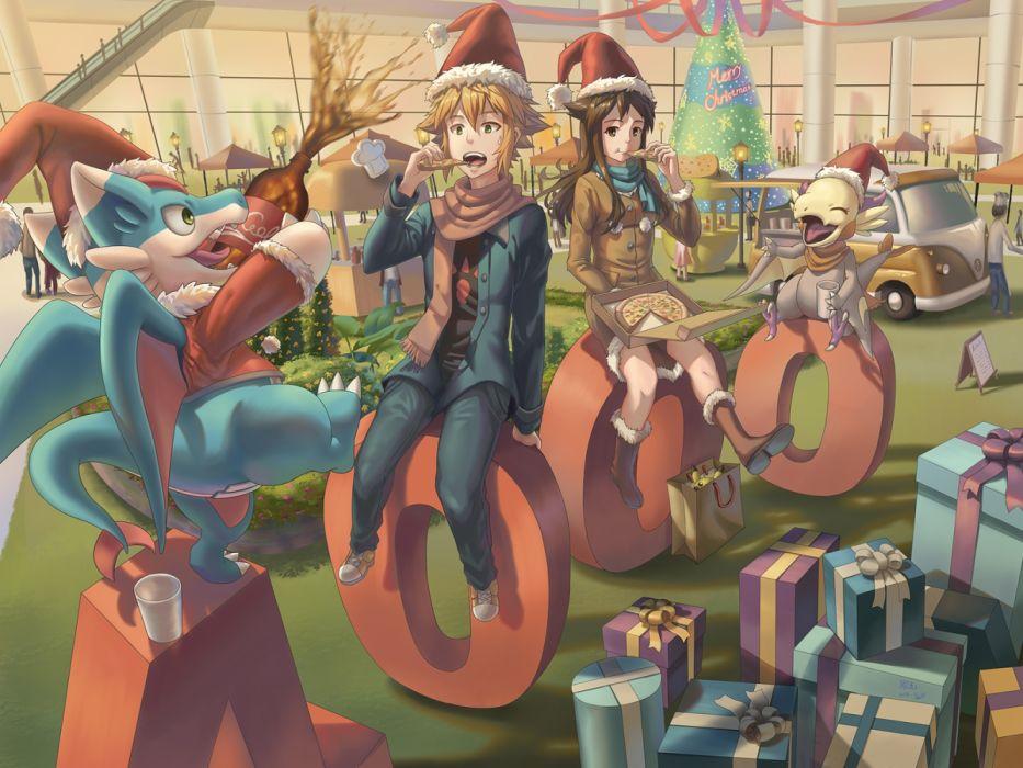 Konachan com - 235986 christmas ho-oh (artist) male original wallpaper