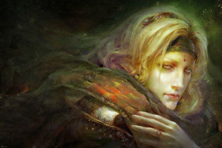 male blond fantasy wallpaper