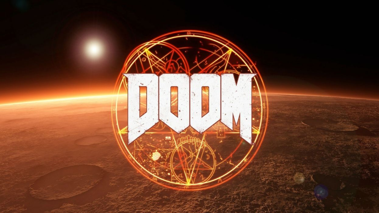 DOOM action dark evil fighting fps futuristic sci-fi warrior technics game video horror wallpaper
