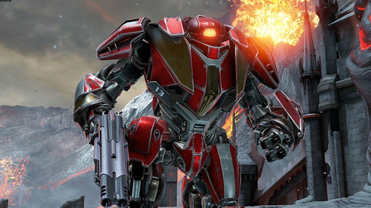 QUAKE CHAMPIONS fps shooter sci-fi futuristjc technics fighting warrior fantasy wallpaper
