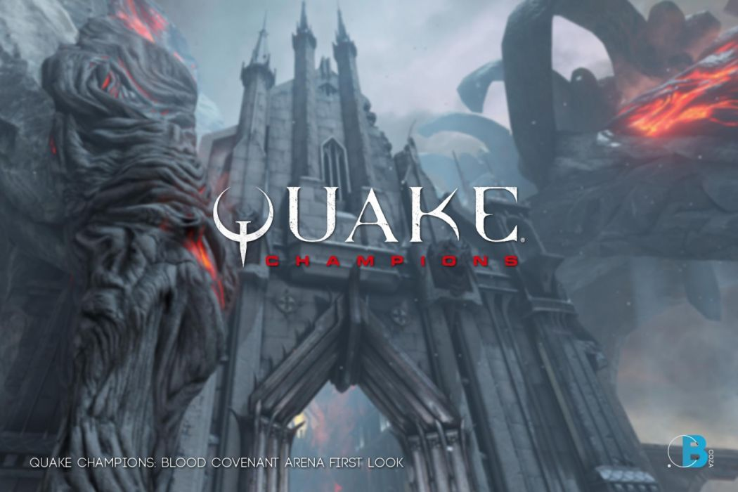 QUAKE CHAMPIONS fps shooter sci-fi futuristjc technics fighting warrior fantasy wallpaper