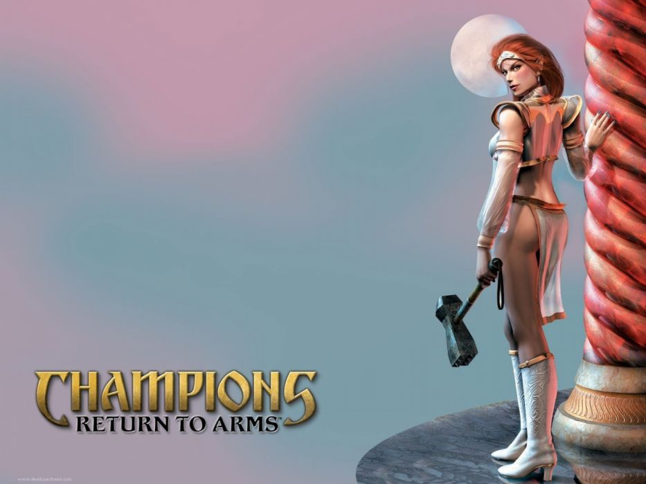 CHAMPIONS RETURN ARMS fantasy warrior rpg action fighting everquest 1crta wallpaper