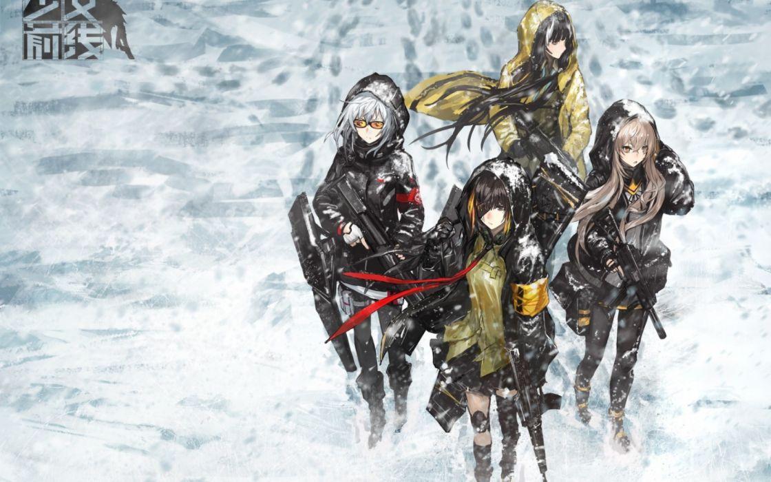 weapons art winter girls Girls Frontline Girls front anime wallpaper