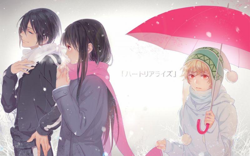 Noragami umbrella girl Yukine Yato A Homeless God wallpaper