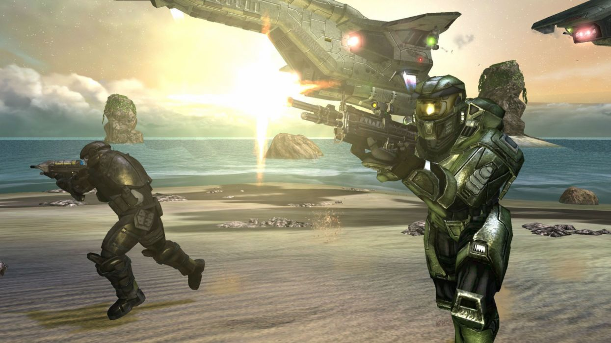 HALO action armor fighting fps futuristic sci-fi shooter warrior technics wallpaper