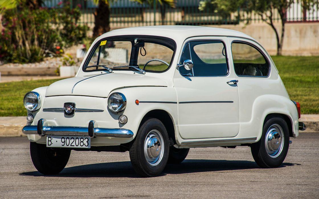 seat 600 blanco coche espay wallpaper
