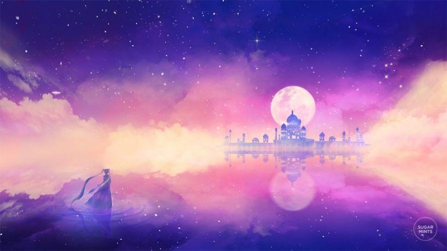 princess serenity anime sailor moon moon city wallpaper