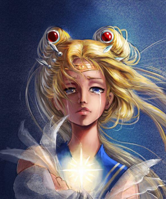 sailor moon usagi tsukino character baby cry girl anime blond hair wallpaper