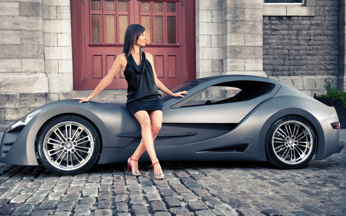 buildings cars concept mujer morena wallpaper