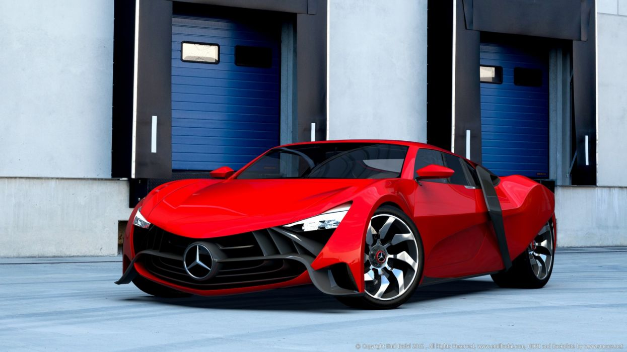 mercedez concept rojo wallpaper