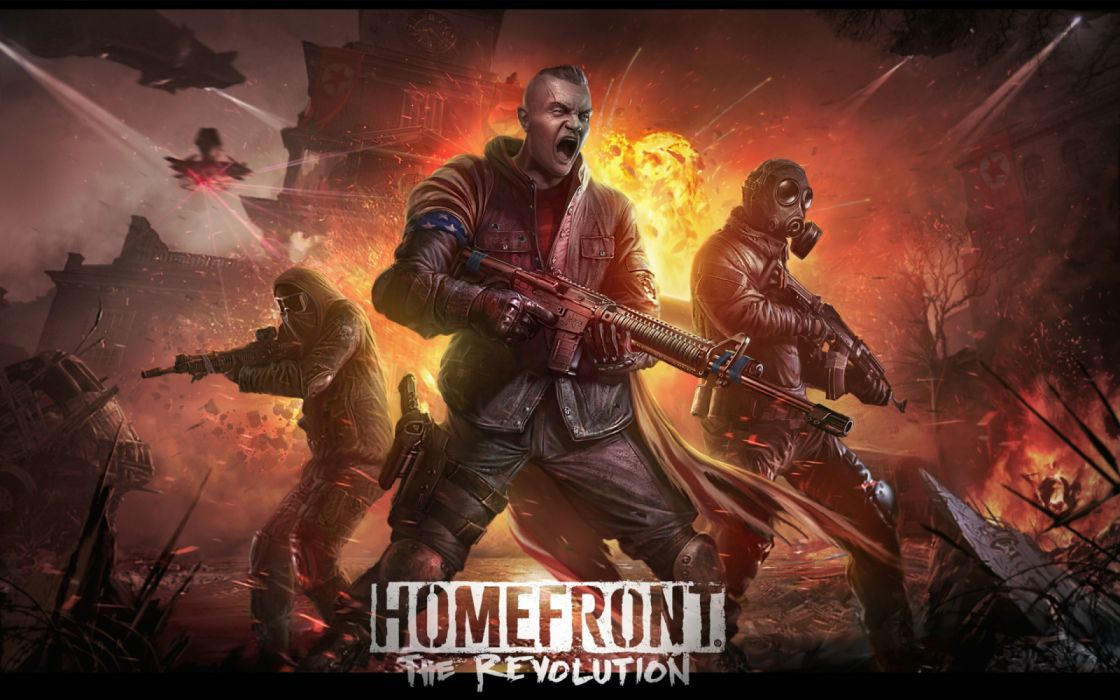 HOMEFRONT action apocalyptic fighting revolution sci-fi shooter futuristic warrior fps wallpaper