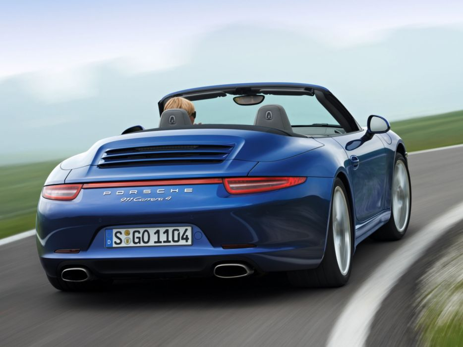 Porsche 911 Carrera 4 Cabriolet 991 2012 wallpaper