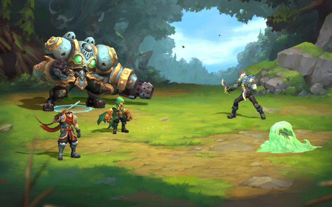 BATTLE CHASERS NIGHTWAR action fantasy fighting rpg strategy warrior sci-fi futuristic mmo comics game videogame wallpaper