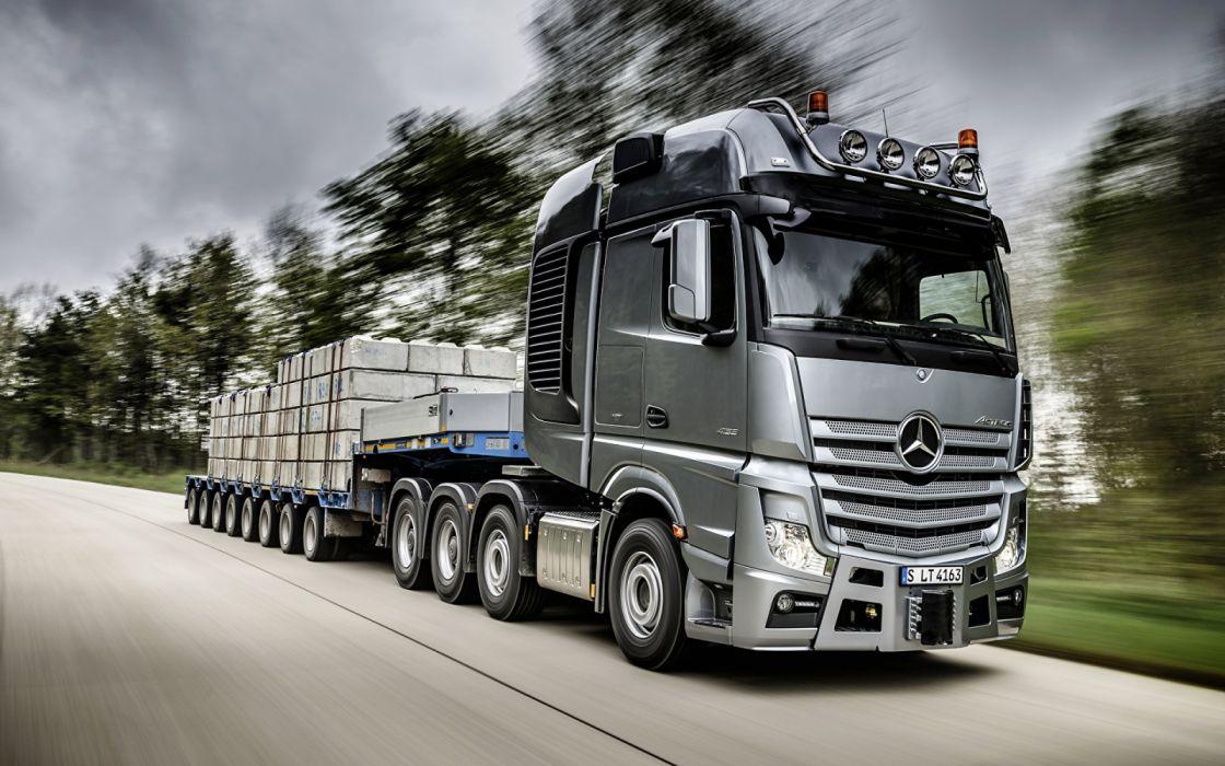 Trucks Mercedes Benz gris wallpaper