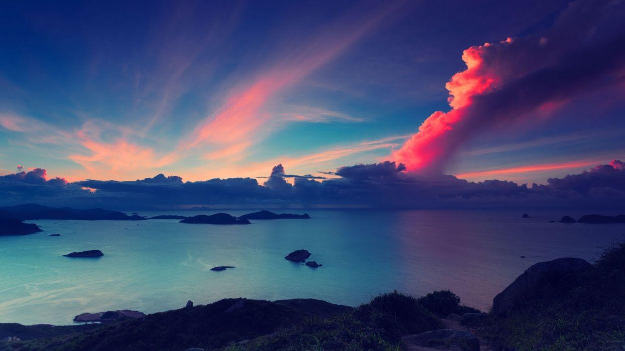 sea sky nature wallpaper