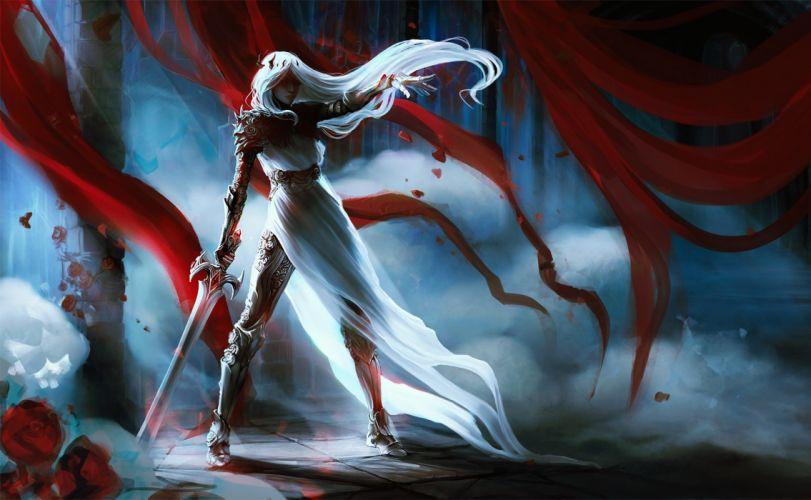 exellero fantasy woman sword woman wallpaper