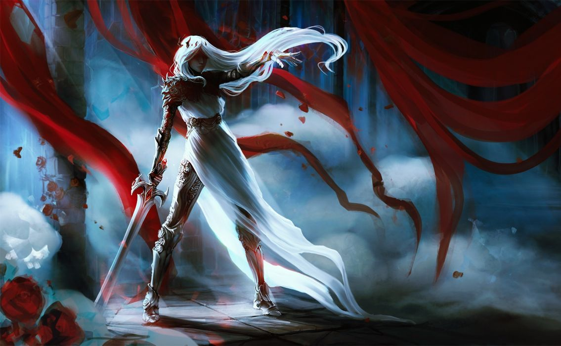 exellero fantasy woman sword woman wallpaper
