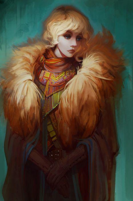 exellero blond hair girl blue eyes beauty fantasy wallpaper
