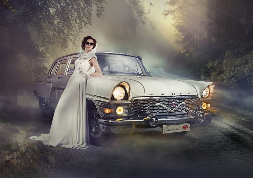 Machine sensuality sensual sexy girl woman model old-car classic photography oldtimer dress sunglasses shades wallpaper