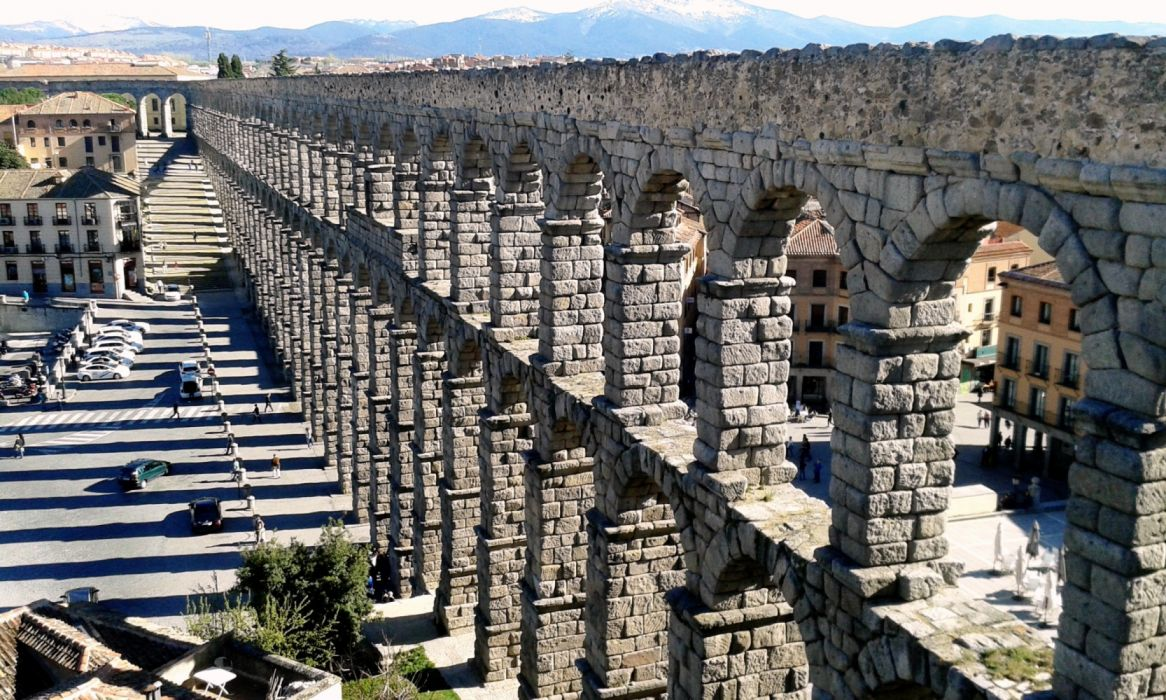 segovia acueducto arquitectura espay wallpaper