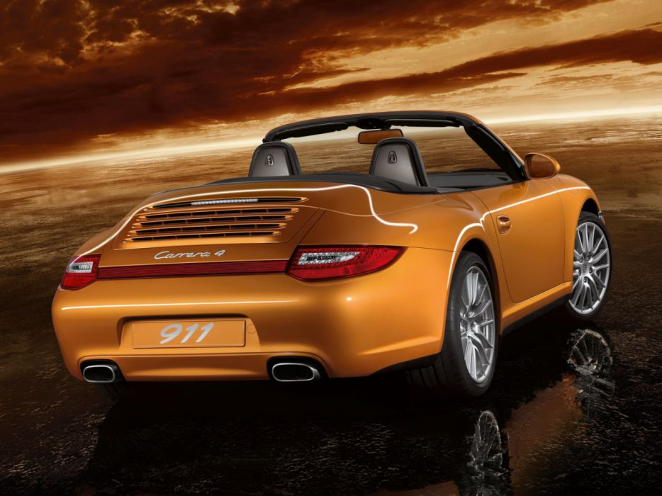 Porsche 911 Carrera 4 Cabriolet 997 MkII 2008 wallpaper
