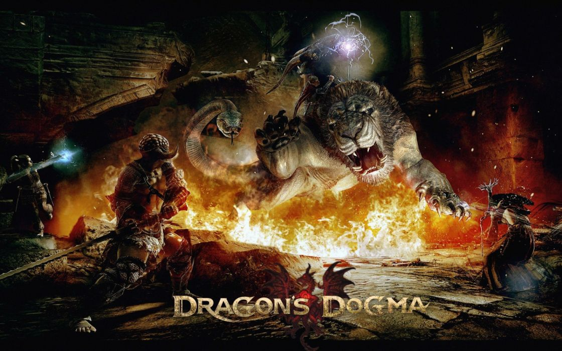 DRAGONS DOGMA fantasy rpg action game video videogame fighting online strategy wallpaper