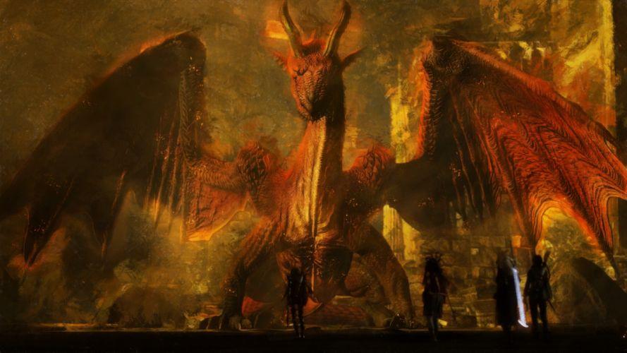 DRAGONS DOGMA Fantasy Rpg Action Game Video Videogame