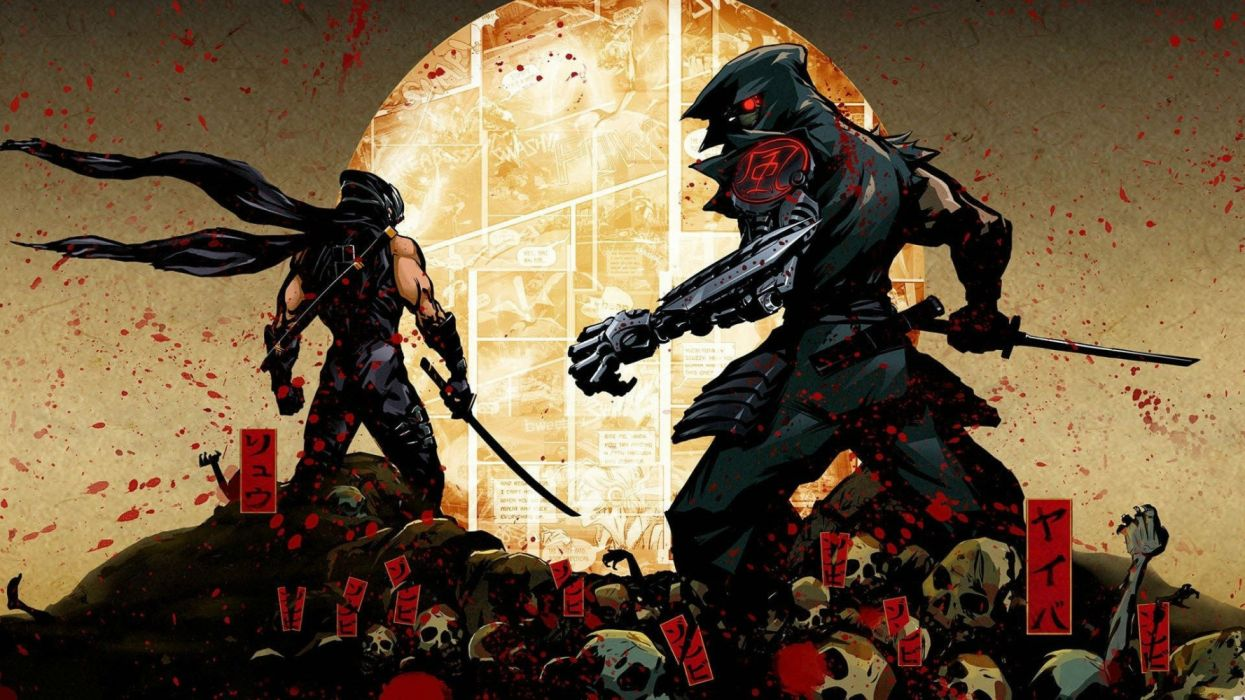 YAIBA NINJA GAIDEN fantasy anime game video videogame action adventure fighting ryukenden arcade warrior 1yngz sci-fi futuristic dark technics wallpaper