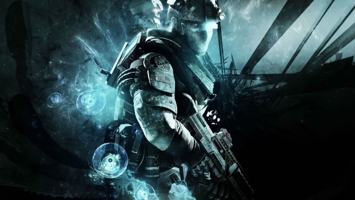 GHOST RECON military action fighting shooter fps sci-fi futuristic tactical technics warrior war soldier Tom Clancys wallpaper