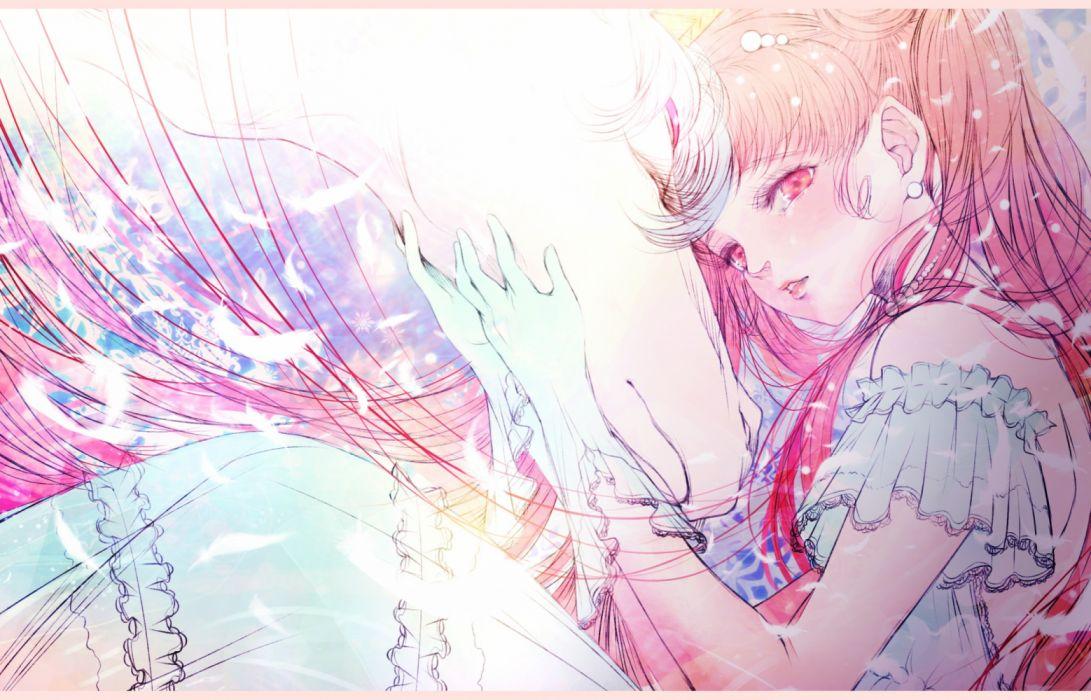 anime girls animals horses fantasy sailormoon wallpaper