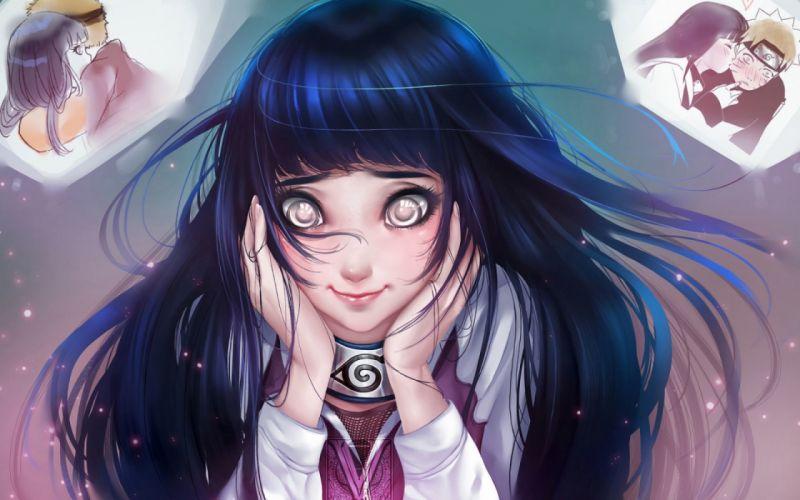 hinata naruto anime girls love men widescreen emotional wallpaper
