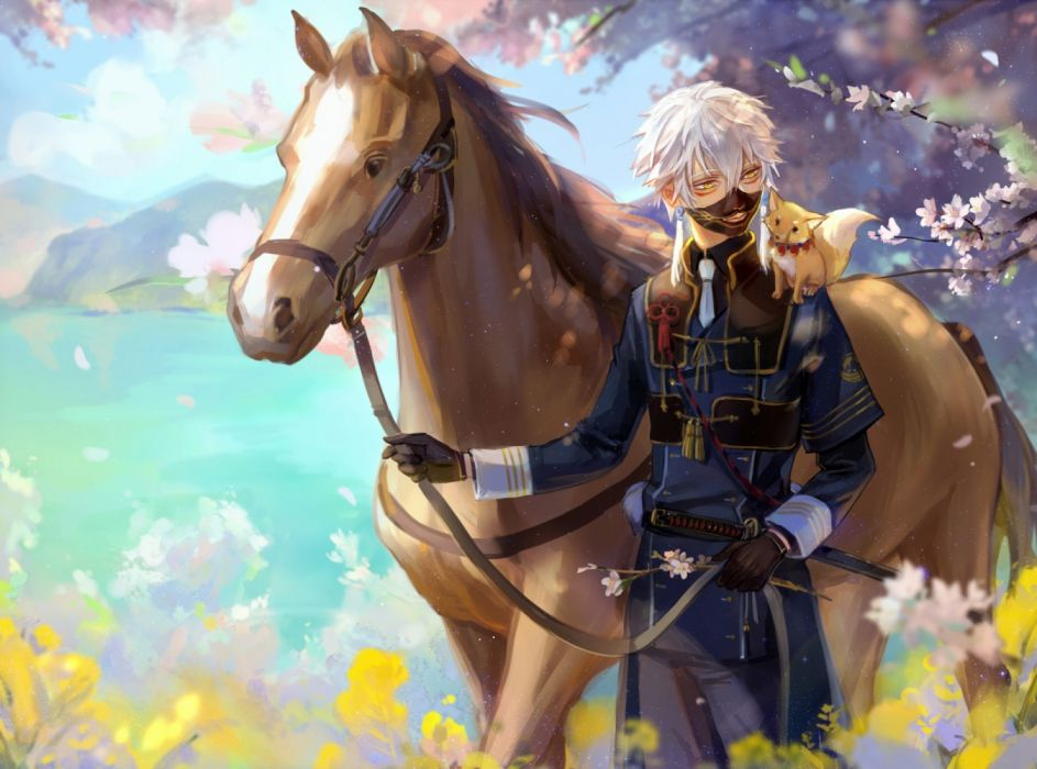 water trees games foxes horses men sky nature flowers wallpaper