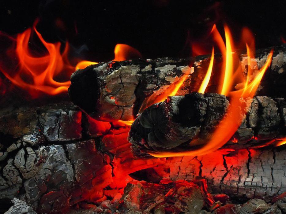 macro night fire wallpaper