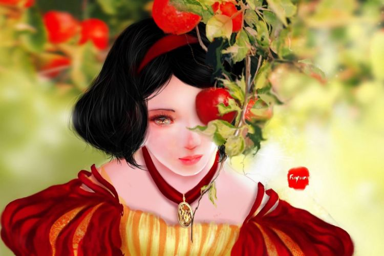 Snow White Snow White and the Seven Dwarfs Walt Disney cartoon wallpaper girls cartoons objects drawings widescreen wallpaper