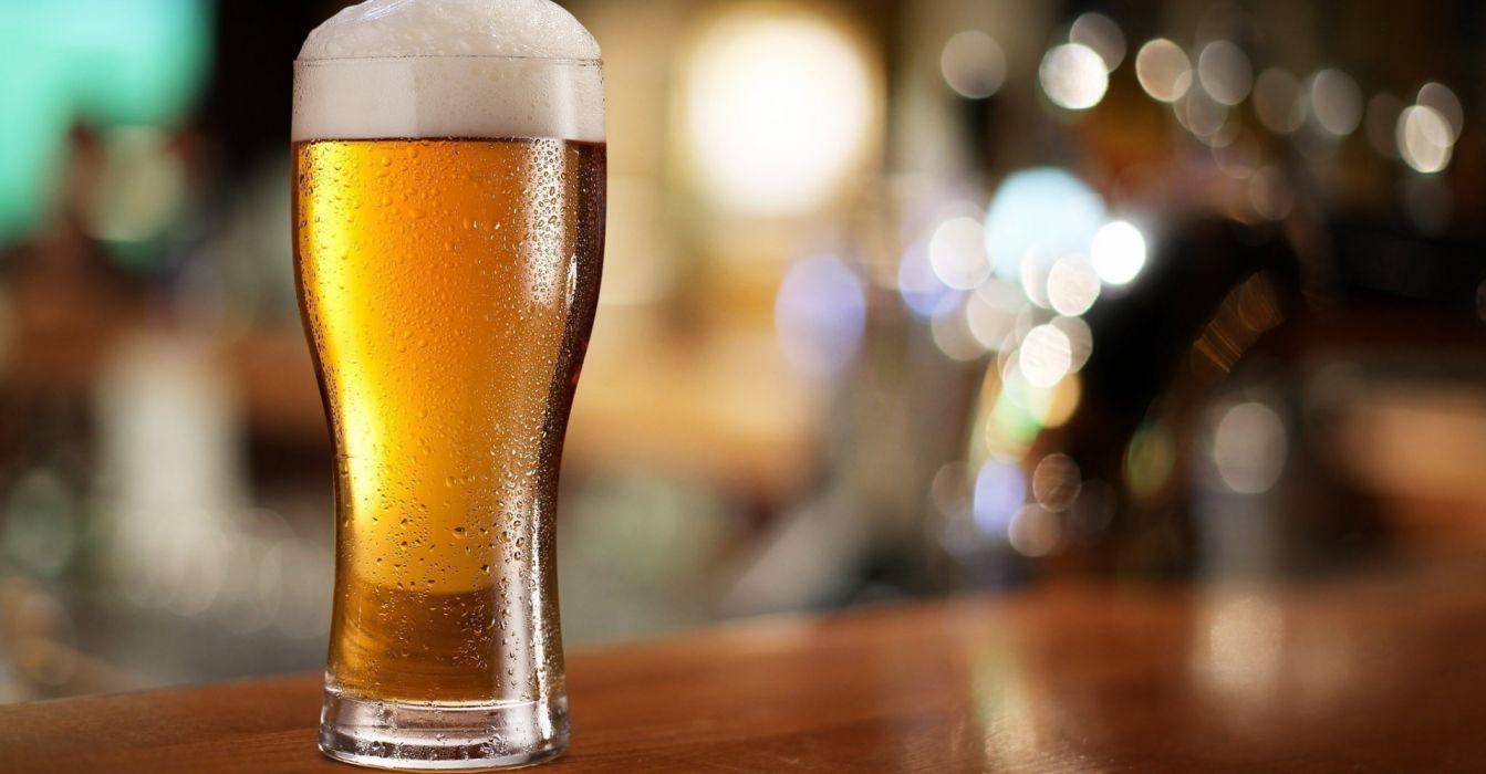 vaso cerveza espuma vidrio wallpaper