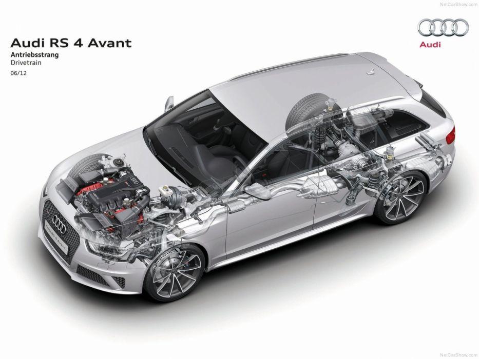 Audi RS4 Avant B8-8K 2012 Cutaway wallpaper