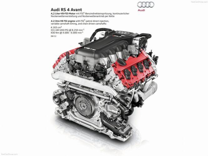 Audi RS4 Avant B8-8K 2012 Engine wallpaper