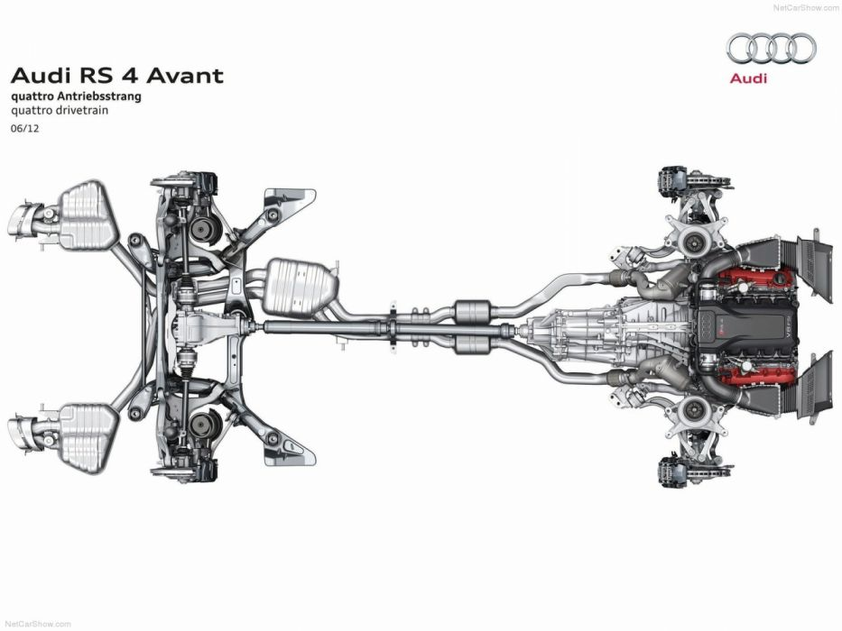 Audi RS4 Avant B8-8K 2012 Powertrain wallpaper