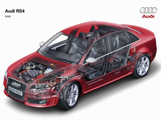 Audi RS4 B7-8E MkI 2005 Cutaway wallpaper