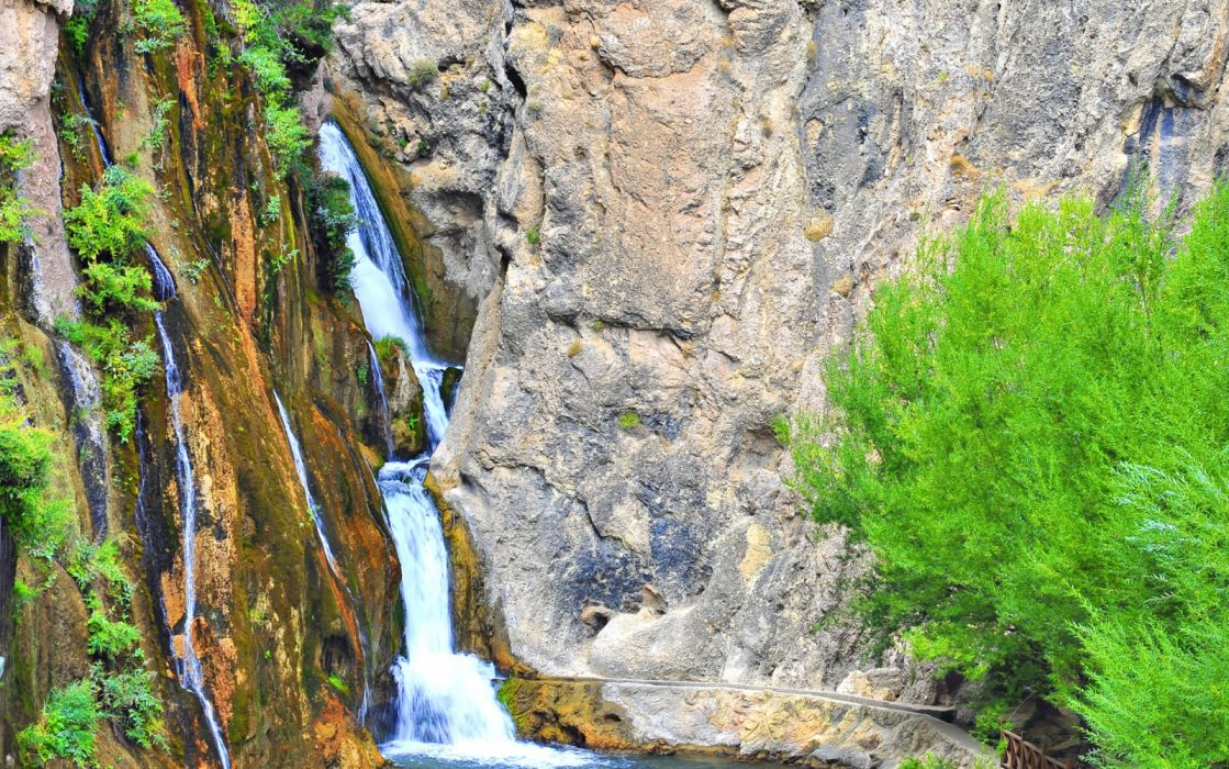 landscape turkey natural beauty tree malatya gurpınar waterfall scenery malatya Photographer Fatih Oktay turkiye wallpaper