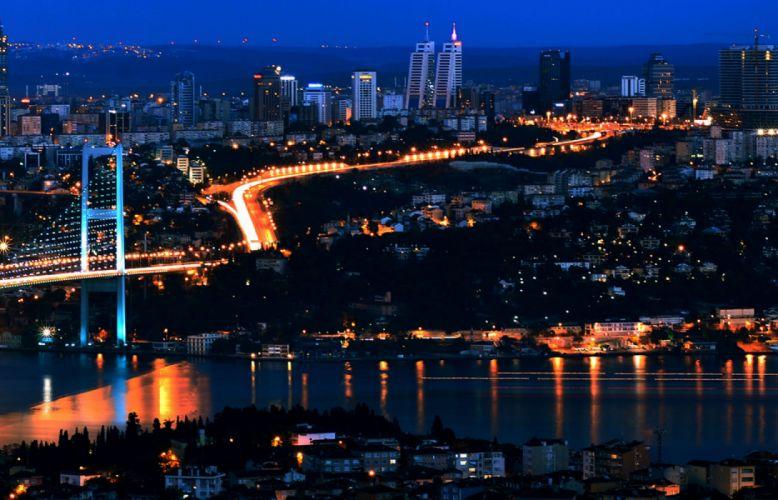 city scenery landscape turkey natural beauty turkiye istanbul night light wallpaper